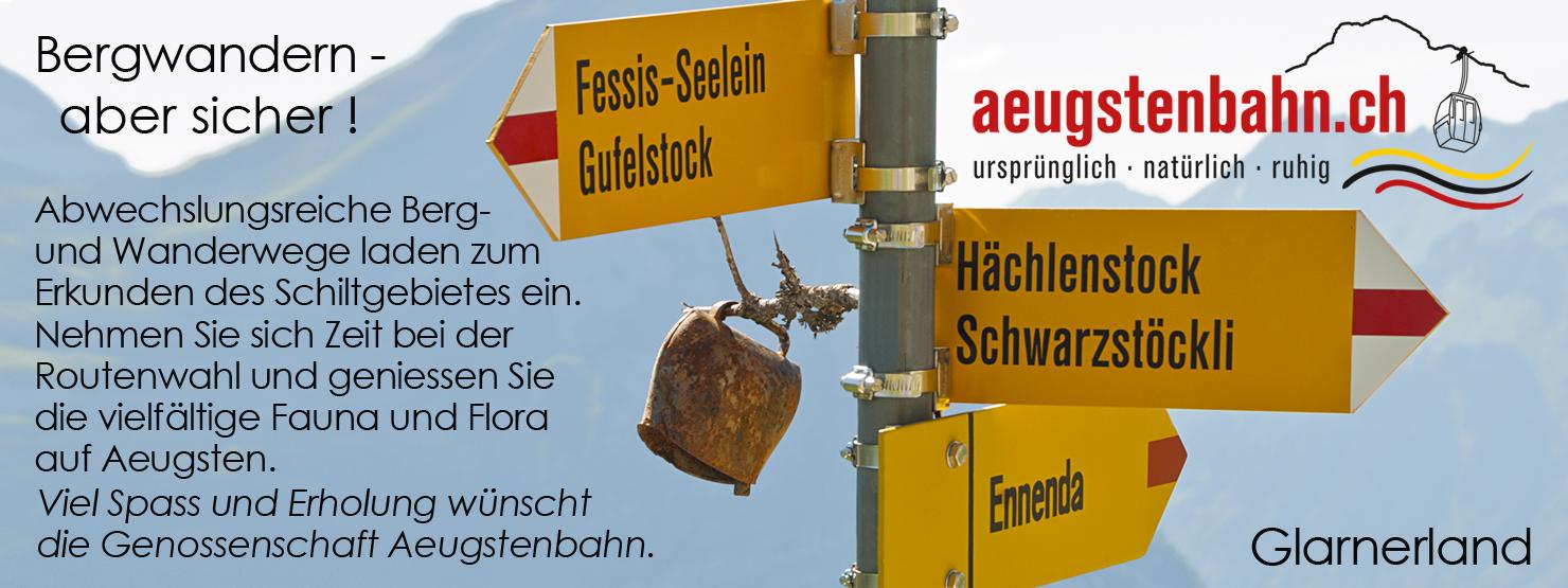 ©Urs Heer Glarus-Inserat Aeugsten Bergwandern
