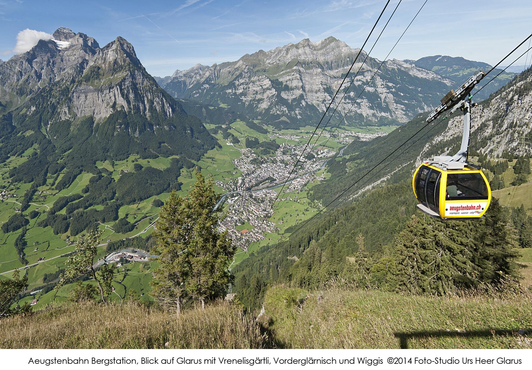CFoto-Studio Urs Heer Glarus-Aeugstenbahn Panorama Glarus